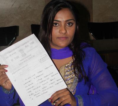 நடிகைக்கு கொலை மிரட்டல் டைரக்டர் மீது போலீசில் புகார்!