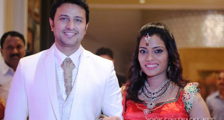 Actor Raja-Amritha Wedding Reception Stills