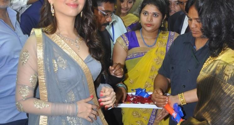 Actress Tamanna Launches 'Vcare Beauty Clinic' at Vijayawada Stills