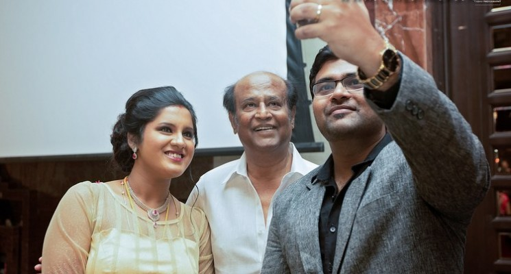 Rajini at Director KS Ravikumar Daughter Marriage Party Photos