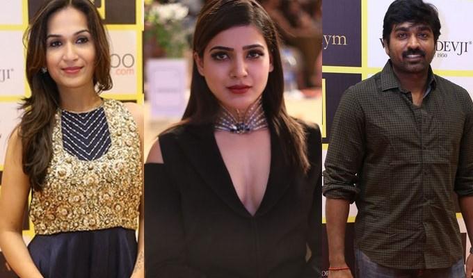 Samantha, Vijay Sethupathi at Southscope Lifestyle Awards