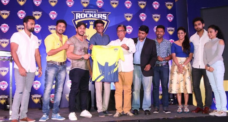 Chennai Rockers introduced the star studded Team Players