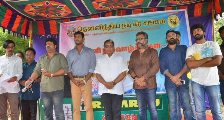 Nadigar Sangam Diwali Gift Distribution Event Photos