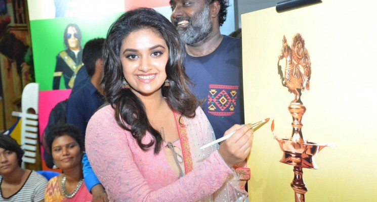 Keerthi Suresh Launches Live Art Museum Stills