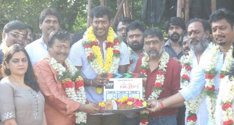 Sandakozhi – 2 Movie Pooja Photos
