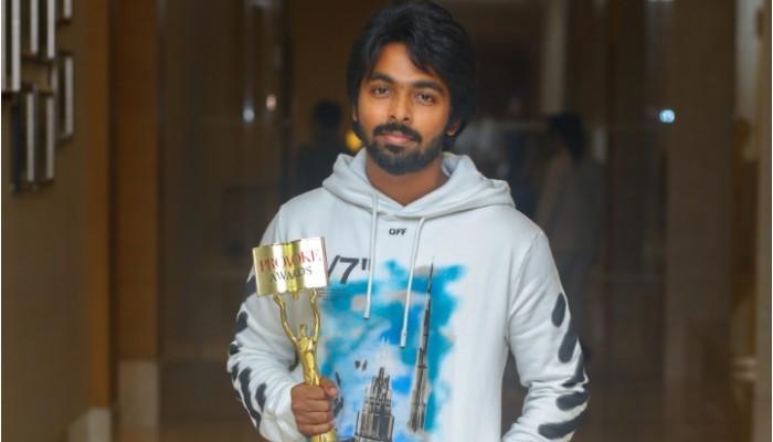 சிறந்த நடிகருக்கான விருது பெற்றார் ஜி.வி பிரகாஷ்!!