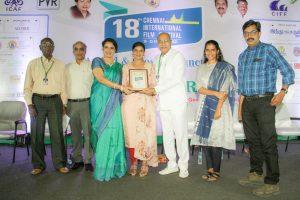 கலைமாமணி விருது, CIFF  சிறந்த நடிகைக்கான விருதுகளை நடிகை ஐஸ்வர்யா ராஜேஷ்