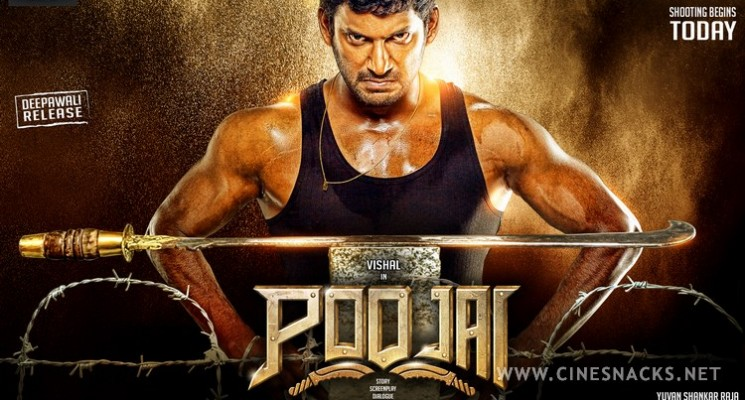 Poojai Movie Posters